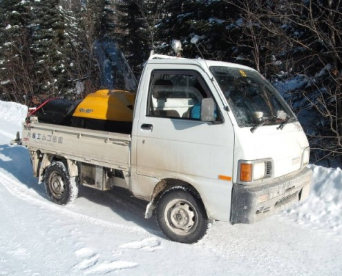 kei truck in winter